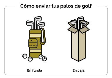 La manera más segura de enviar palos de golf
