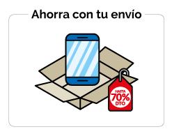 Ahorro al enviar móviles por correo