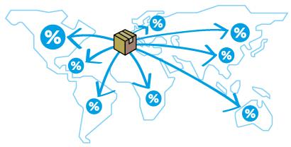 Enviar paquete puerta a puerta a destinos internacionales
