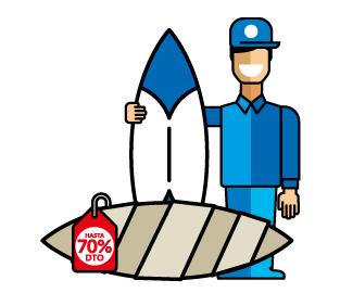 La manera más sencilla y rápida de enviar tablas de surf por paquetería