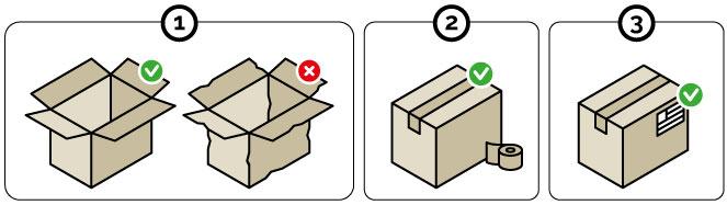 Pasos para enviar paquetes grandes por mensajería